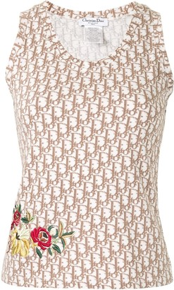 Christian Dior rose patch Trotter tank top