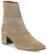 Free People Aura Textured Ankle Suede Booties