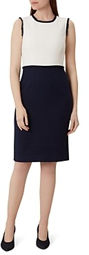 Hobbs London Alice Color-Block Tweed Sheath Dress
