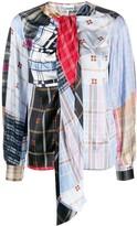Ganni patchwork blouse