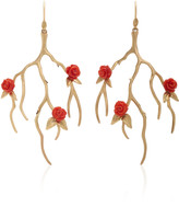 Annette Ferdinandsen 14K Gold And Coral Earrings