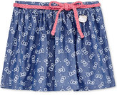 Hello Kitty Chambray Bow-Print Skirt, Toddler & Little Girls (2T-6X)