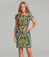 Paisley-Print Sheath Dress