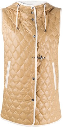 Fay Quilted Hooded Gilet