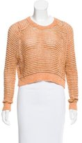 Theyskens' Theory Open-Knit Cropped Sweater