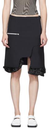 Toga Navy Ruffle Bottom Skirt