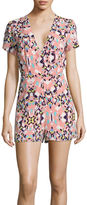 I (heart) Ronson I Heart Ronson Lily Black Happy Afternoon Short-Sleeve Romper