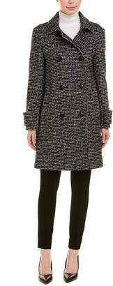 Cinzia Rocca Icons Double-Breasted Wool-Blend Coat