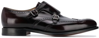 Church's Black Leather Buckled Monk Shoes