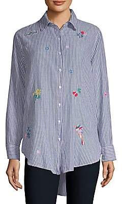 Sundry Women's Oversized Button-Front Shirt