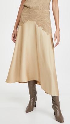 Vince Crinkle Paneled Skirt