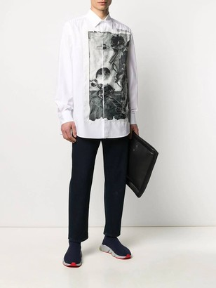 Valentino Space Print Buttoned Shirt White