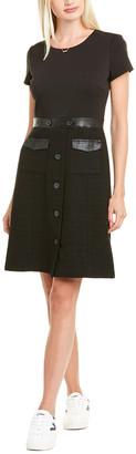 Karl Lagerfeld Paris Tweed Skirt A-Line Dress