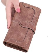 Donalworld Womenolid Longcrub Pu Leatherlim Wallet