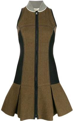 Fendi Pre-Owned zip-up woven dress