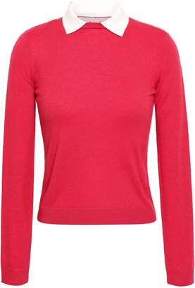 RED Valentino Lace-trimmed Cashmere And Silk-blend Sweater