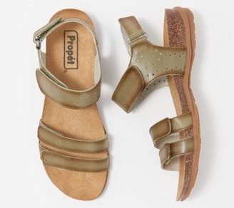 Propet Leather Adjustable Sandals - Farrah