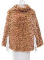 Cassin Knitted Fur Poncho
