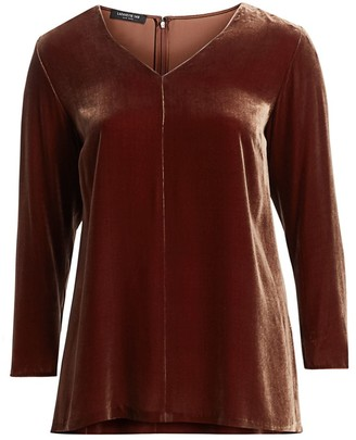 Lafayette 148 New York Lafayette 148 New York, Plus Size Thurmen Classic Velvet Blouse