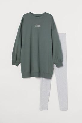 H&M Pajama Sweatshirt and Leggings