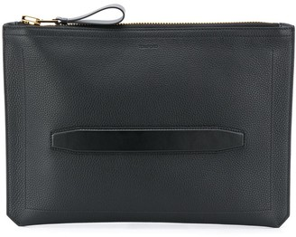 Tom Ford Leather Laptop Bag With Inset Strap Handle