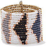 New York & Co. 5-Row Faux-Pearl & Beaded Stretch Bracelet Set / Beaded Cuff