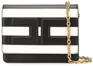 Elisabetta Franchi Striped Cross Body Bag