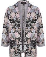 River Island Womens Black floral jacquard blazer