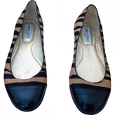 Jimmy Choo Brown Leather Ballet flats