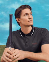 Ted Baker Golf tee pattern polo shirt