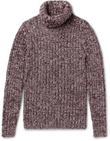 Dolce & Gabbana - Ribbed Mélange Wool Rollneck Sweater