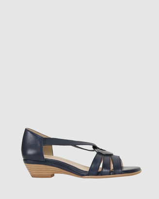 Easy Steps - Women's Blue Heeled Sandals - Corina - Size One Size, 37 at The Iconic
