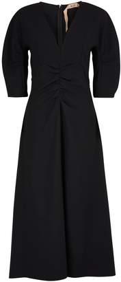 N°21 N 21 V-necked midi-dress