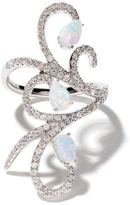 As 29 AS29 18kt white gold Lucy opal and diamond ring