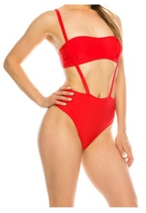 KENDALL + KYLIE Overall 1 Piece Swimsuit Women's Swimsuit