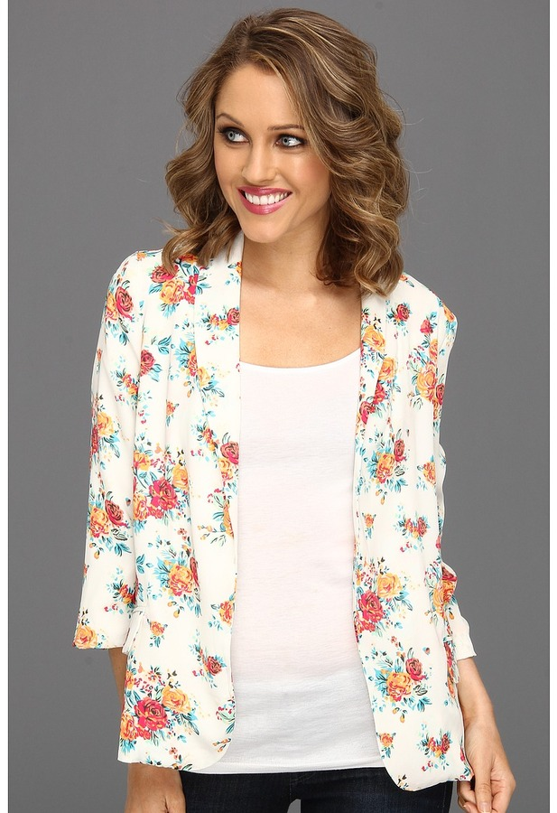 Gabriella Rocha Warna Floral Blazer (White) - Apparel