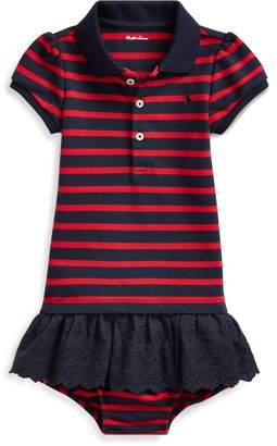 Ralph Lauren Eyelet-Skirt Polo Dress