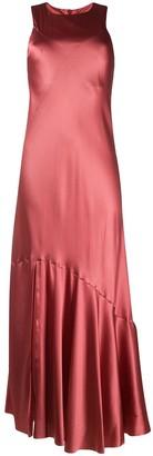 Ann Demeulemeester geometric-paneled bias satin dress