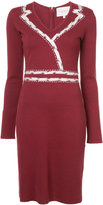 Carolina Herrera V-neck knitted dress
