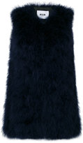 MSGM feather gilet
