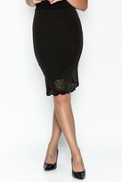 Sugar Lips Black Flounce Skirt
