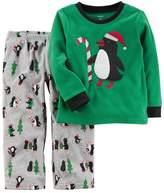 Carter's Baby Boy Penguin Applique Top & Microfleece Bottoms Pajama Set