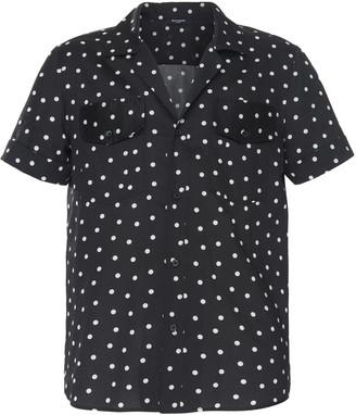 Balmain Polka Dot Button-Front Cotton Shirt