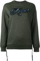 Kenzo Lyrics sweatshirt - women - Cotton/Nylon/Polyester - S