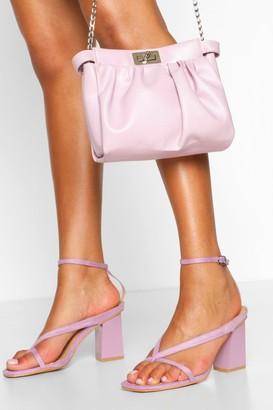 boohoo Wide Fit Toe Post Block Heel Sandals