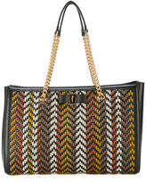 Salvatore Ferragamo woven texture shoulder bag - women - Calf Leather - One Size