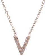 KC Designs Rose Gold Diamond Letter V Necklace