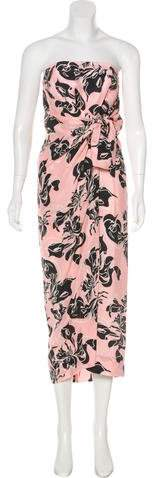 Cédric Charlier Strapless Maxi Dress