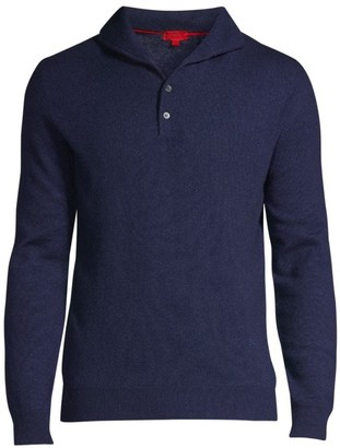 Isaia Classic-Fit Cashmere & Silk Polo Sweater