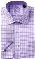 English Laundry Pinwheel Check Pattern Trim Fit Dress Shirt